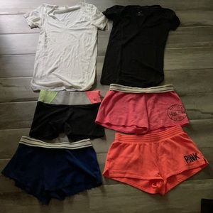A GREAT Bundle of PINK & VS shorts and tops